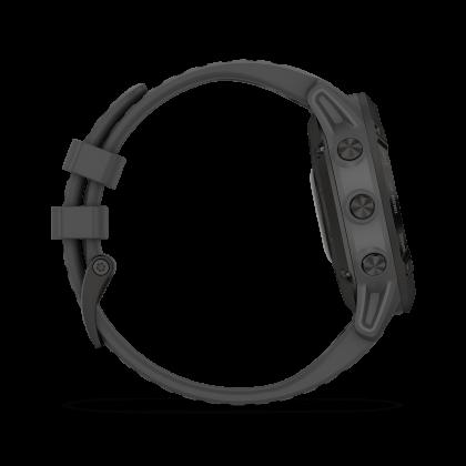 Garmin Fenix 6 Pro Solar Titanium Carbon Gray DLC with Black Band (*Original set 2 years Warranty By AECO Garmin )